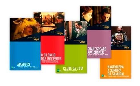 Coleção Cinemateca Veja 3 Dvds Com Livro Lacrados
