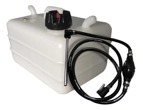 Tanque De Combustível 12l + Mangueira Compl Yamaha/mercury