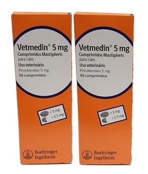 Combo 2x Vetmedin 5mg 50 Comprimidos
