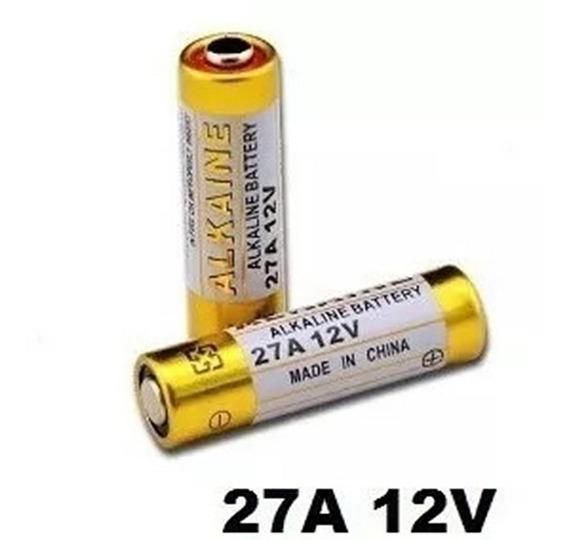 Pilha 27a 12v Bateria Alcalina Fina Cartela 5 Peças Tx Clone