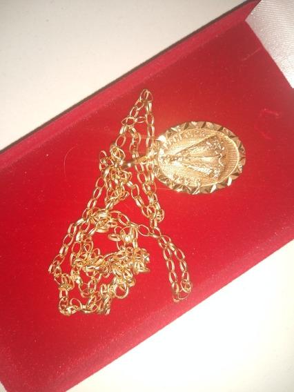 Corrente De Ouro Mais Uma Medalha Nossa Senhora Aparecida 5
