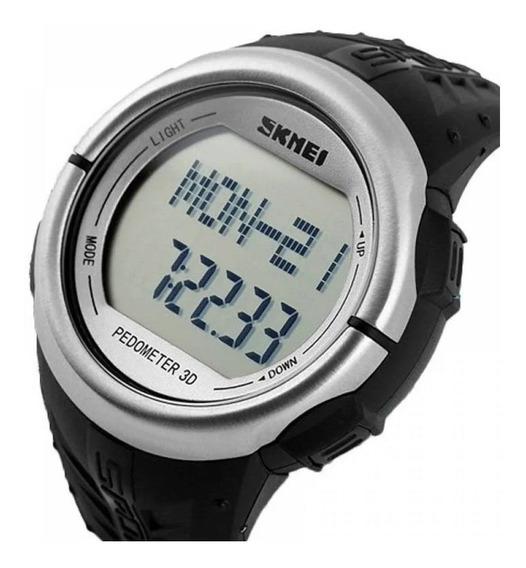 Relógio Masculino Digital Pedômetro Original A Prova D Água