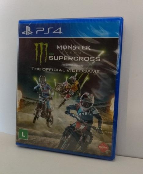 Monster Energy Supercross Ps4 Midia Física Lacrado