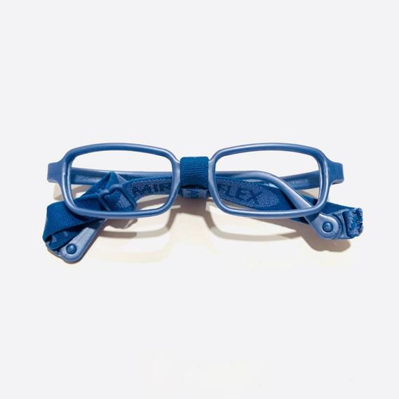 Lentes Armazón Oftálmico Miraflex New Baby 1 Para 2 A 4 Años Color Dp Azul Perlado Listo Para Graduar