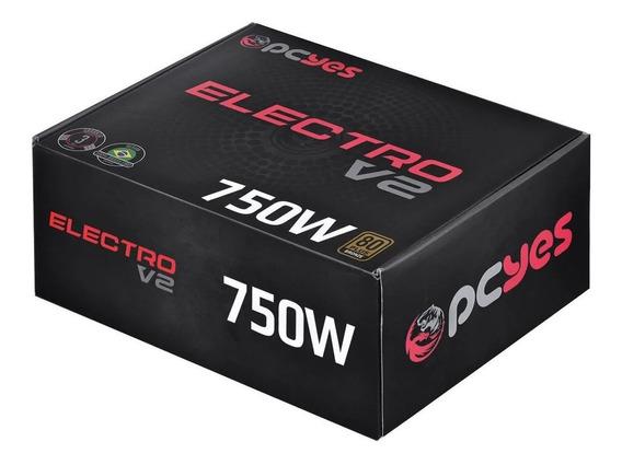 Fonte Atx 750w Electro V2 80 Plus Bronze Com Nota Fiscal