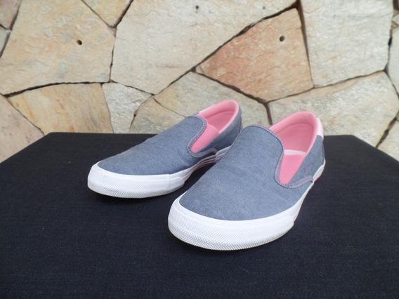 Tênis Iate Skidgrip Denim - Converse - All Star - Jeans/rosa