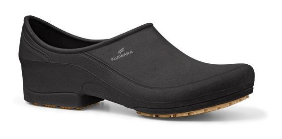 Sapato Profissional Antiderrapante Fujiwara Moov Preto Ca