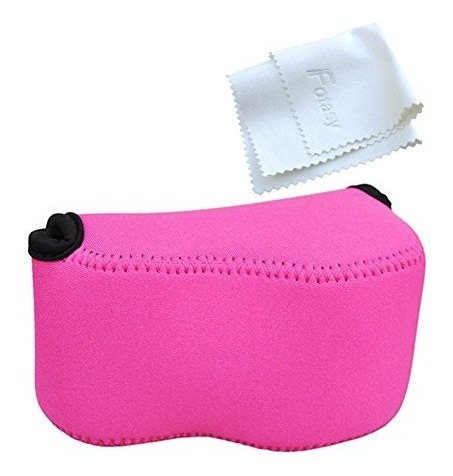 Oc-s1ma Magenta Mirrorless Camera Pouch For Sony A6300/a6000