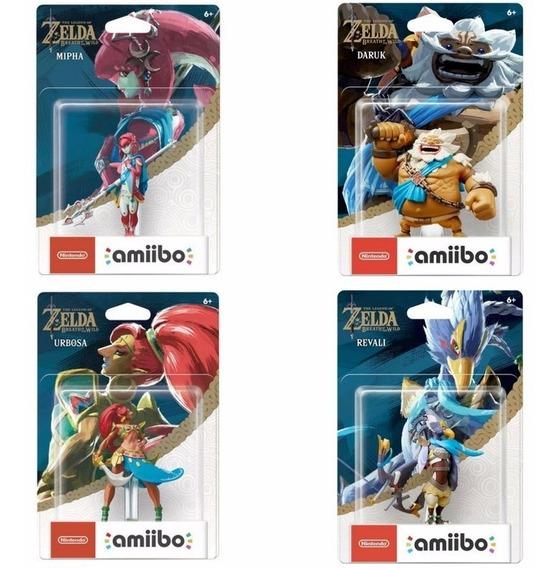 Amiibo Zelda Champions Zora Goron Gerudo Rito Champion Pack