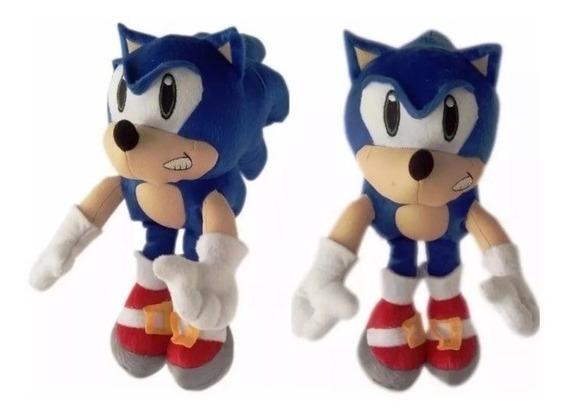 Boneco Pelucia Sonic Grande 36cm Antialérgico