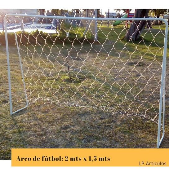 Arcos De Futbol De Acero Desarmables Con Red 1,5mts X 2mts