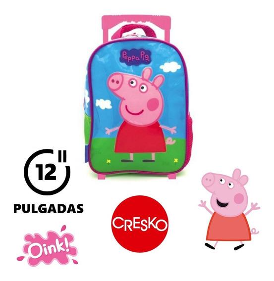 Mochila Peppa Pig 12 Pulgadas Carrito - Original Cresko