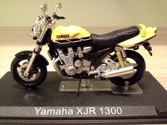 Miniatura Moto Yamaha Xjr 1300 Amarela Rara Escala 1:24 Rara