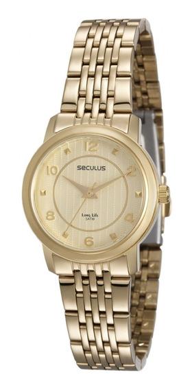 Relógio Feminino Seculus 20475lpsvda1 Dourado Analógico