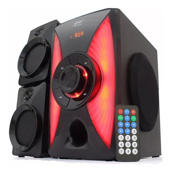 Caixa De Som Home 2.1 Subwoofer Bluetooth Pc Tv Usb Rádio Fm