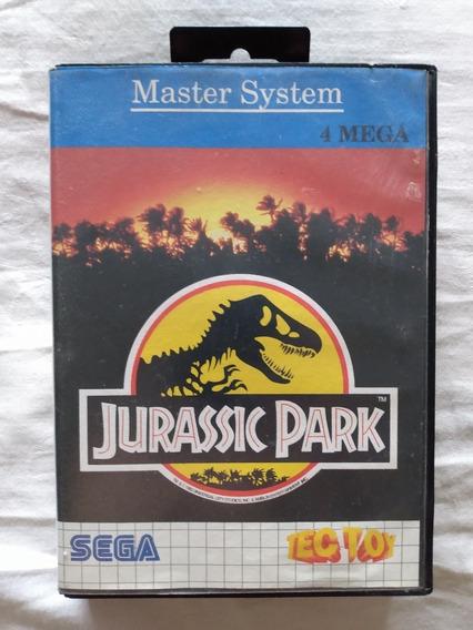 Cartucho Master System Jurassic Park Tec Toy + Capa + Estojo