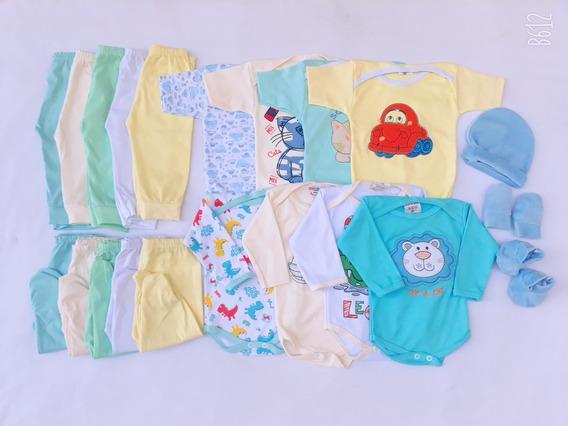Kit 21 Pçs Maternidade Roupa De Bebê Menina E Menino