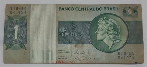 Cédula - Dinheiro Antigo - Cr$ 1,00 - Um Cruzeiro