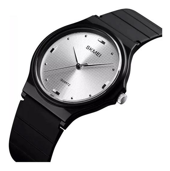 Relógio Feminino Skmei 1421 Preto Esportivo Fino