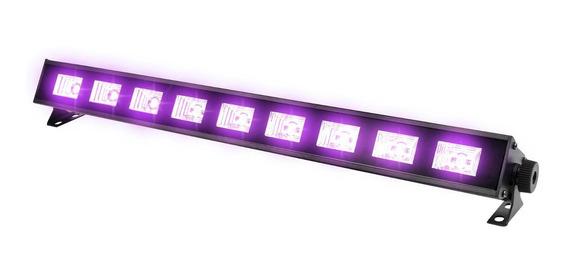 Barra Led Uv 9 Hyper Leds 27w Ultravioleta Luz Negra Neon