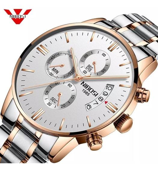 Relógio Nibosi Luxo Original Pronta Entrega Frete Grátis
