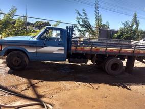 Chevrolet D40/86/87 Azul Carroceria De Madeira