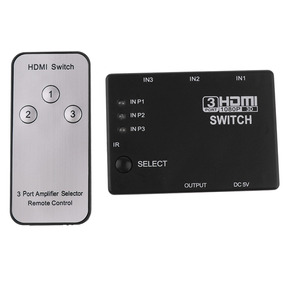 3port 1080p Vídeo Hdmi Switch Switcher Splitter + Controle R