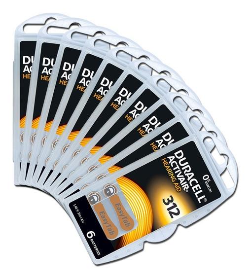 60 Baterias Pilhas Aparelho Auditivo Duracell 312 Pr41