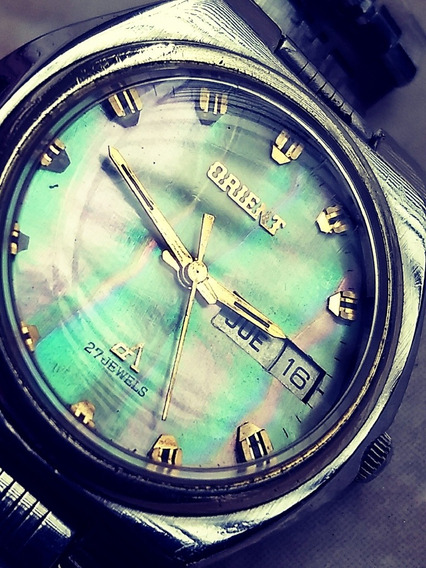 Orient 27 Jewels Madriperola Japan S/igual Seiko Ômega Mido