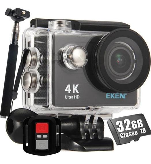 Câmera Eken H9r 4k Wi-fi + 32g + Bateria Extra E Bastão