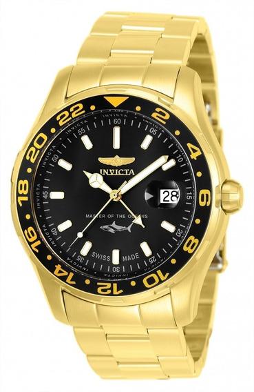 Invicta Pro Diver 25822 Swiss Made Plaque Ouro