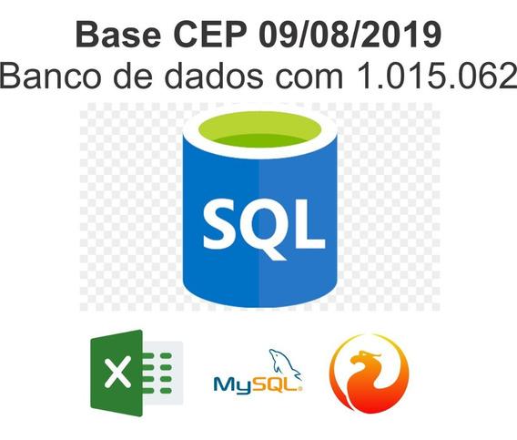 Banco De Dados Cep 2019 + Ibge + Latitude + Ddd