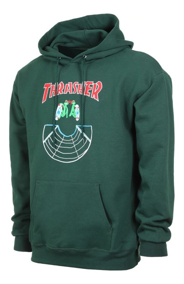 Sudadera Thrasher Doubles Hood Forest Green