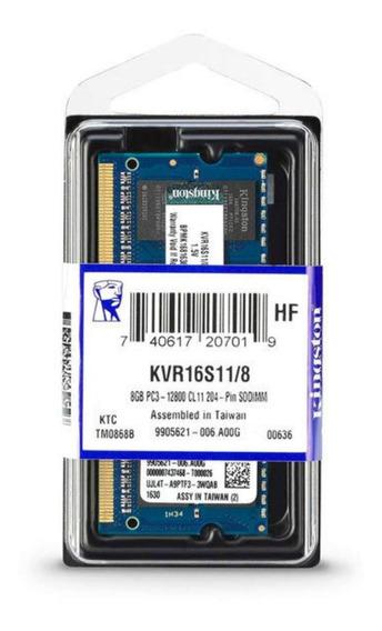 Memoria RAM 8 GB 1x8GB Kingston KVR16S11/8