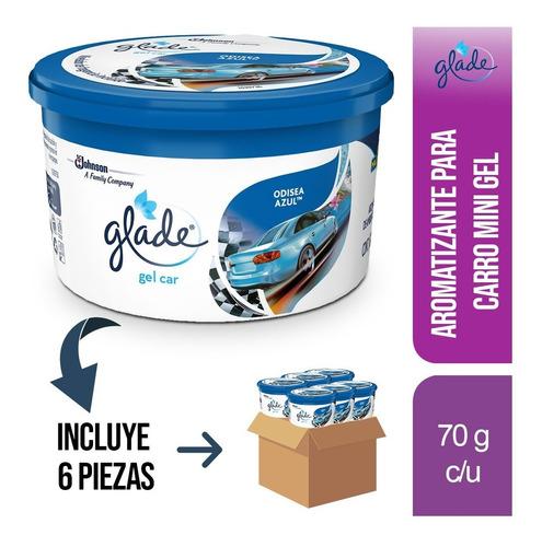 Imagen 1 de 2 de 6 Pz - Glade Mini Gel Car Aromatizante 70g Odisea Azul