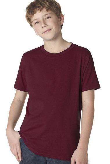 Kit 5 Camiseta Infantil Básica Lisa Várias Cores 8 A 14 Anos