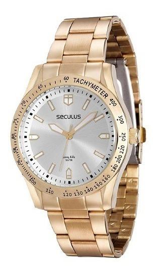 Relógio Feminino Analógico Seculus 25541lpsvda1 - Dourado