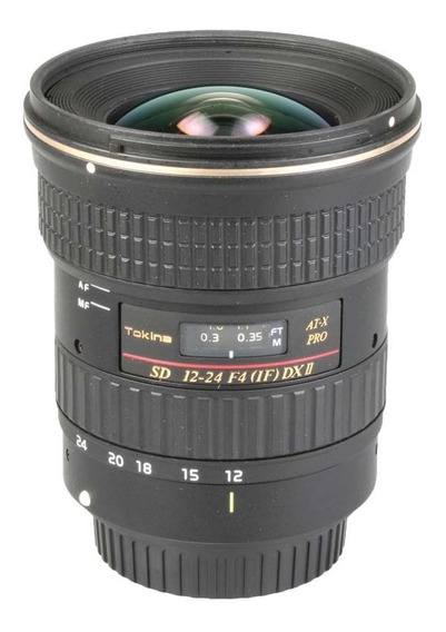 Objetiva Tokina At-x Pro Sd 12-24mm F4 If Dx Ii Para Canon