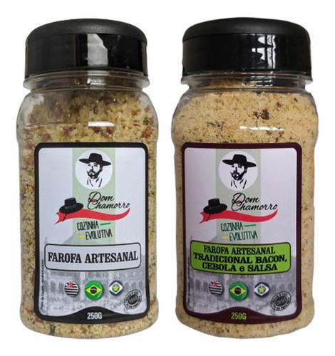 Imagem 1 de 4 de Kit 02 Farofas Cebola E Salsa & Natural Com Ervas