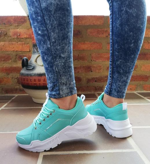 Tenis Casual Mujer Zapato Suela Alta Mujer Tenis Deportivos