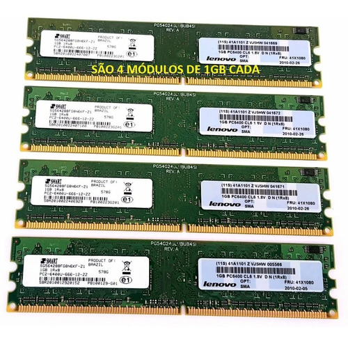 Smart Lenovo Ddr2 4gb 800mhz Pc2-6400 Kit 4x1