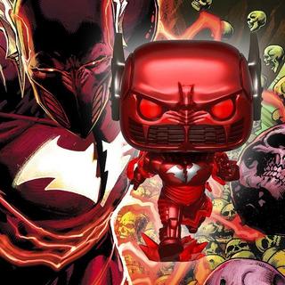 Funko Pop Heroes Batman 80th Batman Metal Red Death *ex* 283