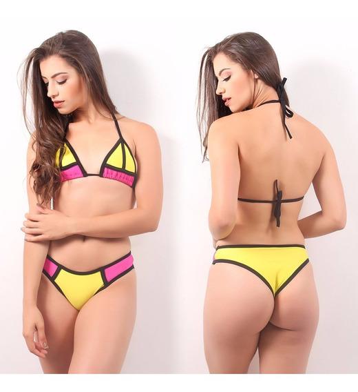 Biquini 3d Cortininha Praia Feminino Panicat Moda Verão 2018