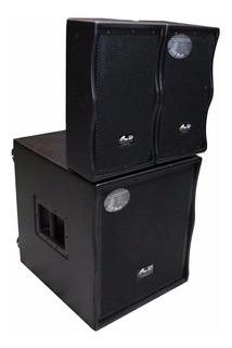 Sistema De Sonido Gbr Array 1000 Sub + 2 Bafles 1x10