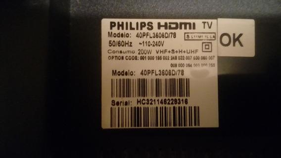 Teclado + Sensor Do Remoto Tv Lcd Philips 40pfl3606d78