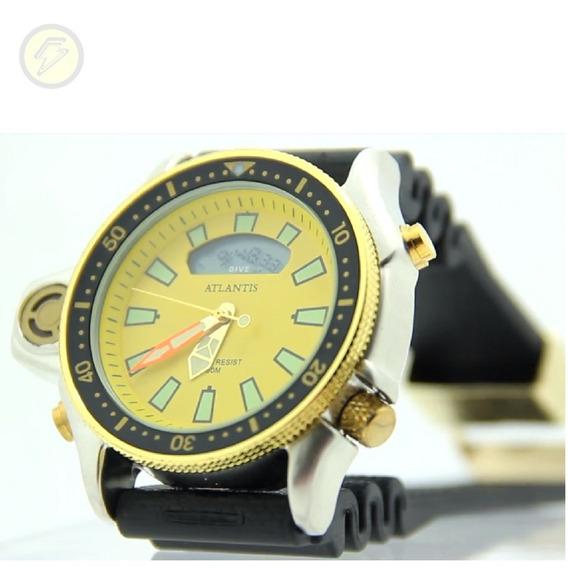 Relógio Original Quartz Masculino Digital Borracha Serie Pra