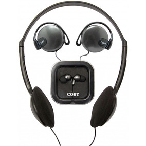 Kit 3 Fones Coby Cv324 Headphone Auricular Earphone