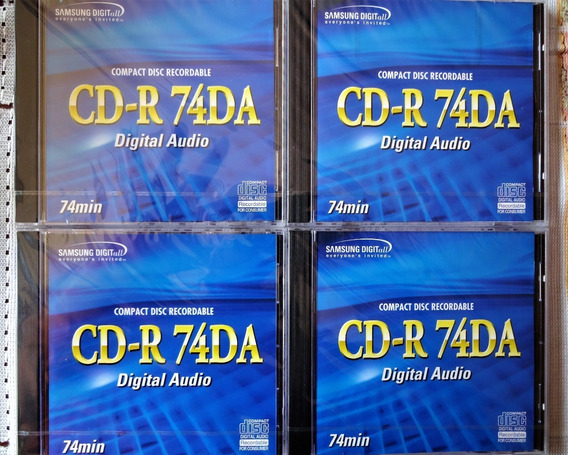 Cd Audio Digital Samsung Para Grabadores De Audio. Pack De 4