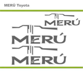 Calcomania Toyota Meru Diseño Original