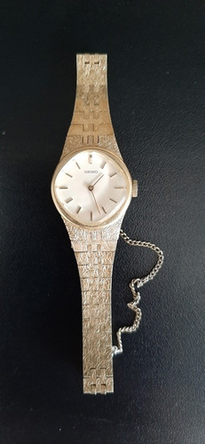 Relógio Seiko Pulseira Folhada A Ouro